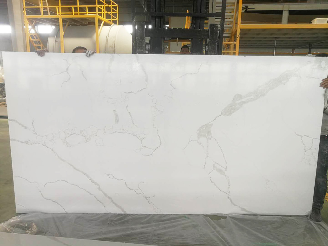 Quartz Stone Slab Calacatta White Quartz