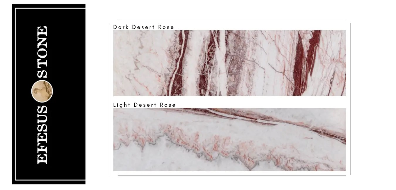 Dark Dersert Rose-Light Dersert Rose Onyx