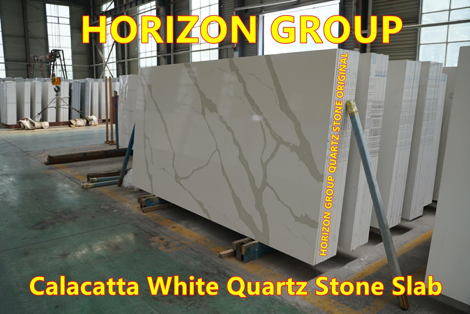 Quartz Calacatta White Slab for Kitchen Countertop