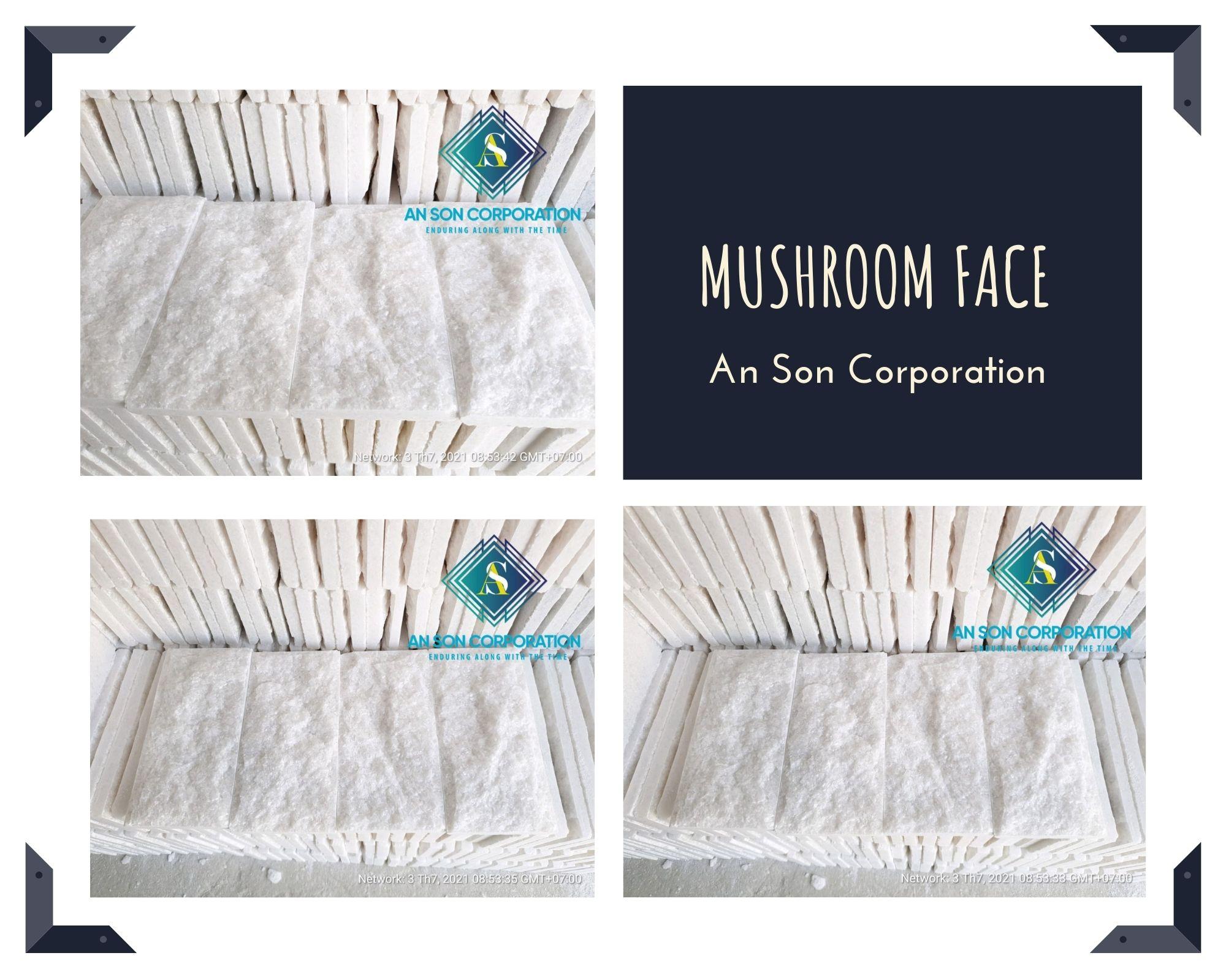 White Mushroom Face Marble