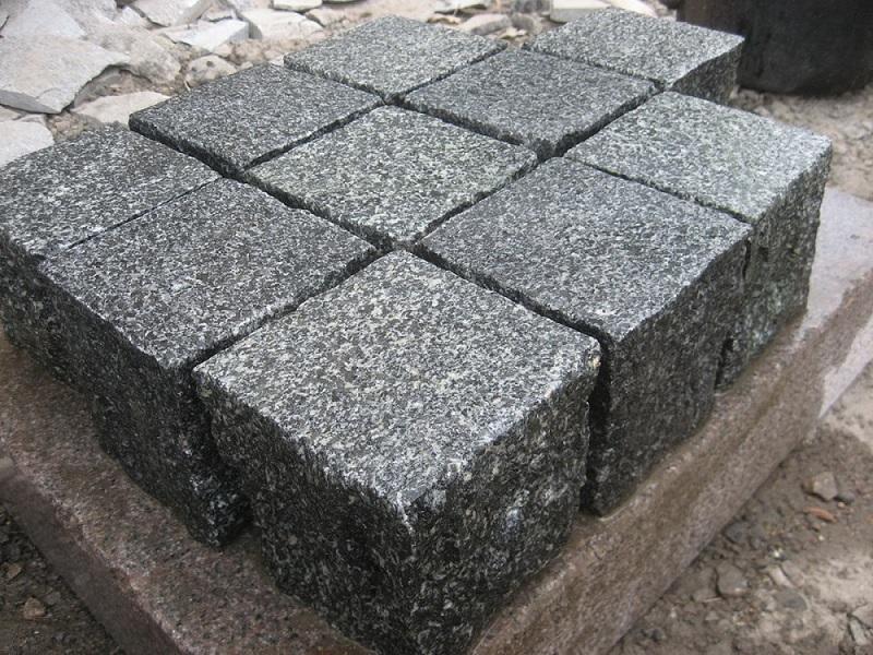 Black cube stone