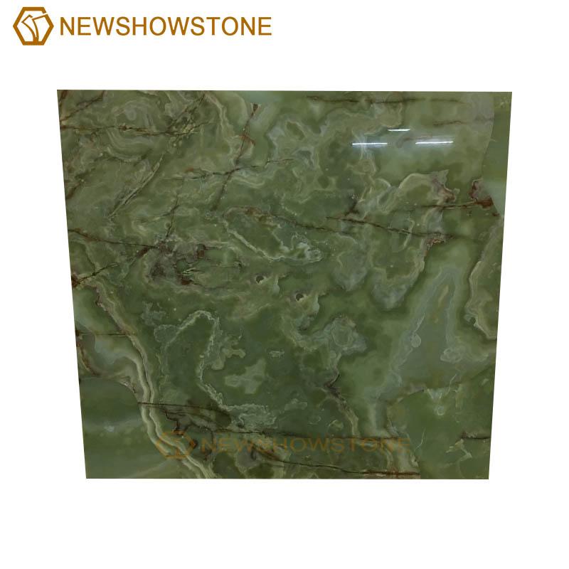 Top quality dark green onyx marble slab background