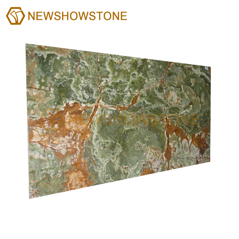 Factory price green onyx marble slab for countertop
