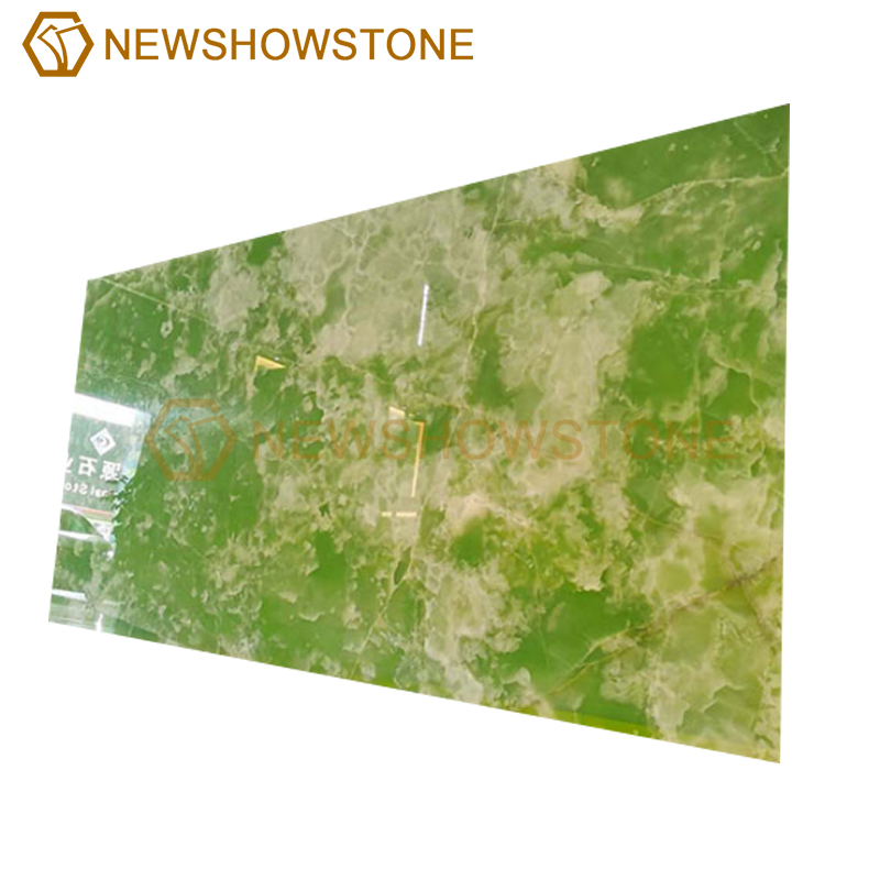 customized green onyx marble slab for background
