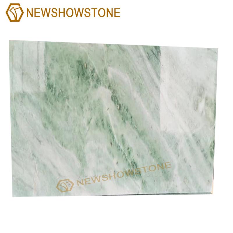 Polish green silver onyx marble slab background