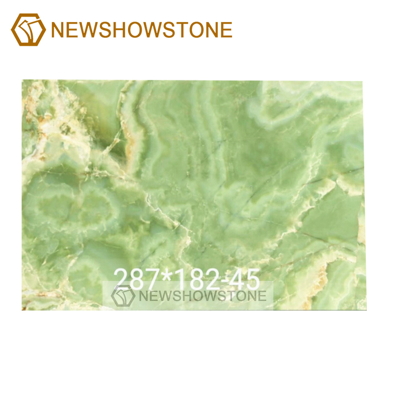 Beautiful light green onyx marble slab background