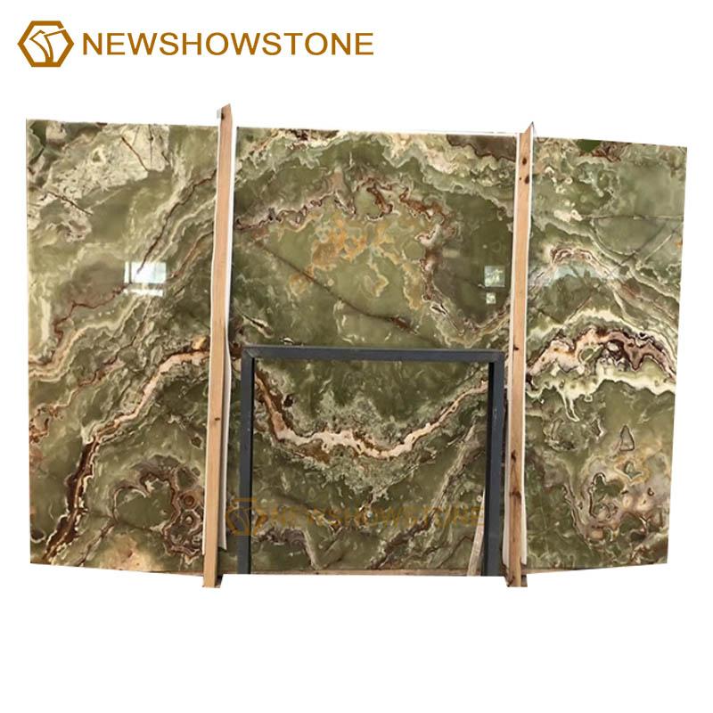 High quality dark green onyx marble slab for wall