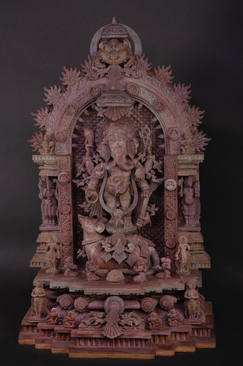 Ganesha  Sculpture Serpentine Stones