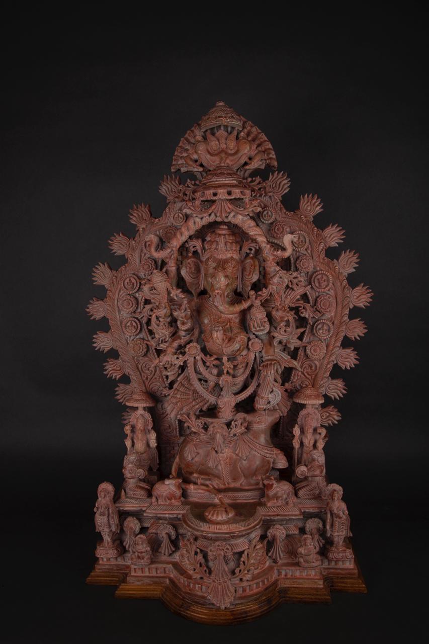 Lord Ganesha  Serpentine Stone Sculpture