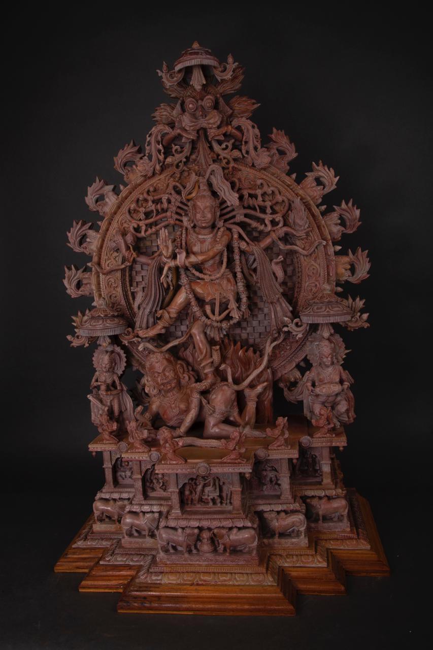 Ganesha  Serpentine Indian Stone Sculpture