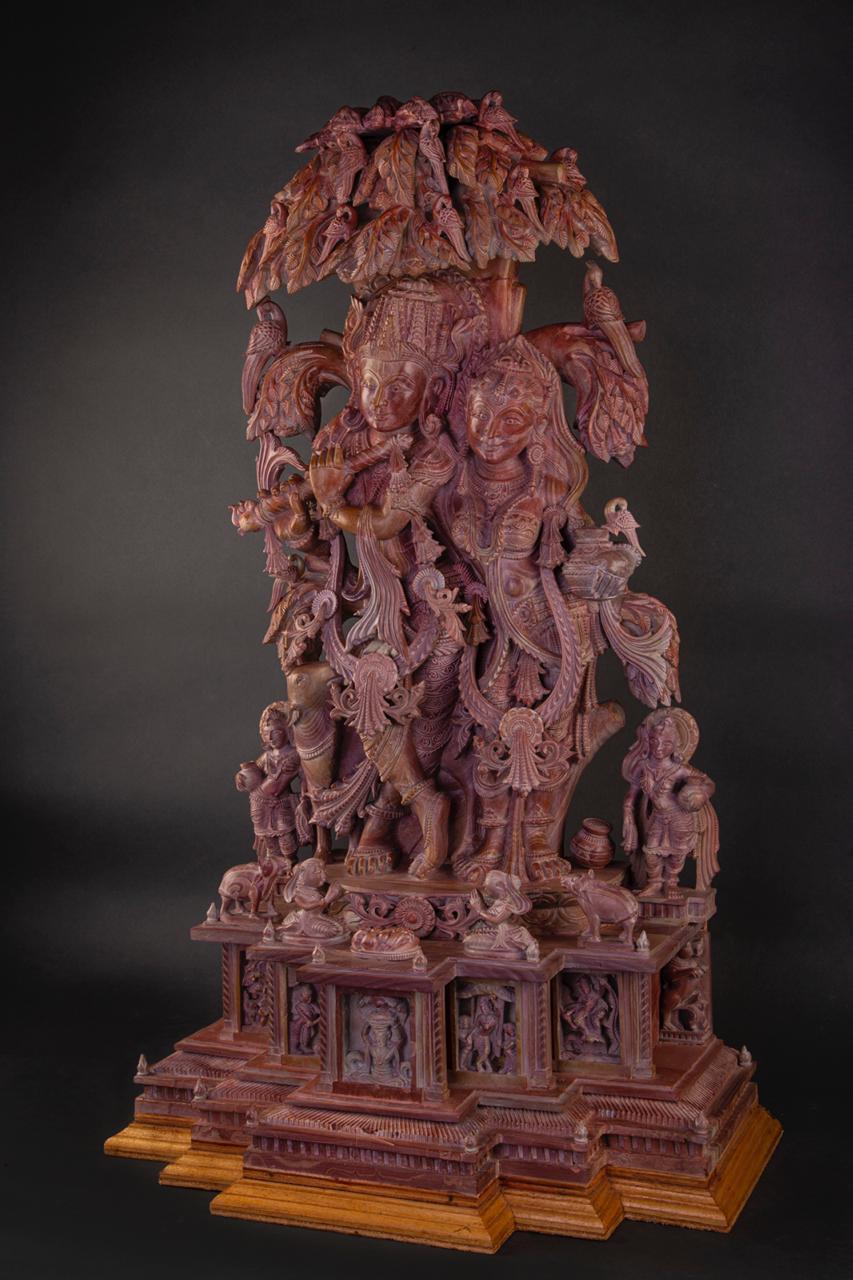 Ganesh  Serpentine Stone Sculpture