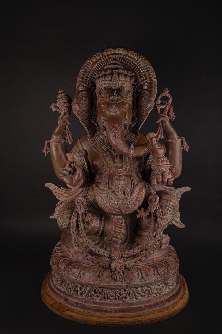 Ganesa  Serpentine Stone Sculpture