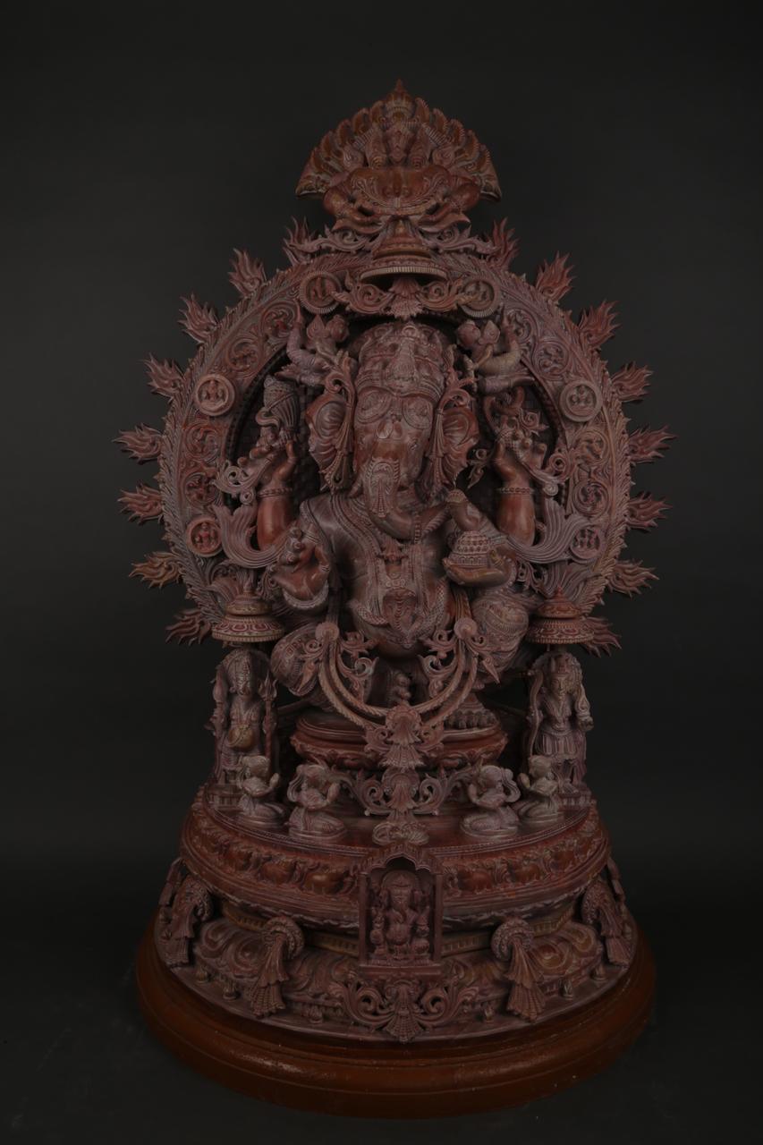God Ganesha  Serpentine Stone Sculpture