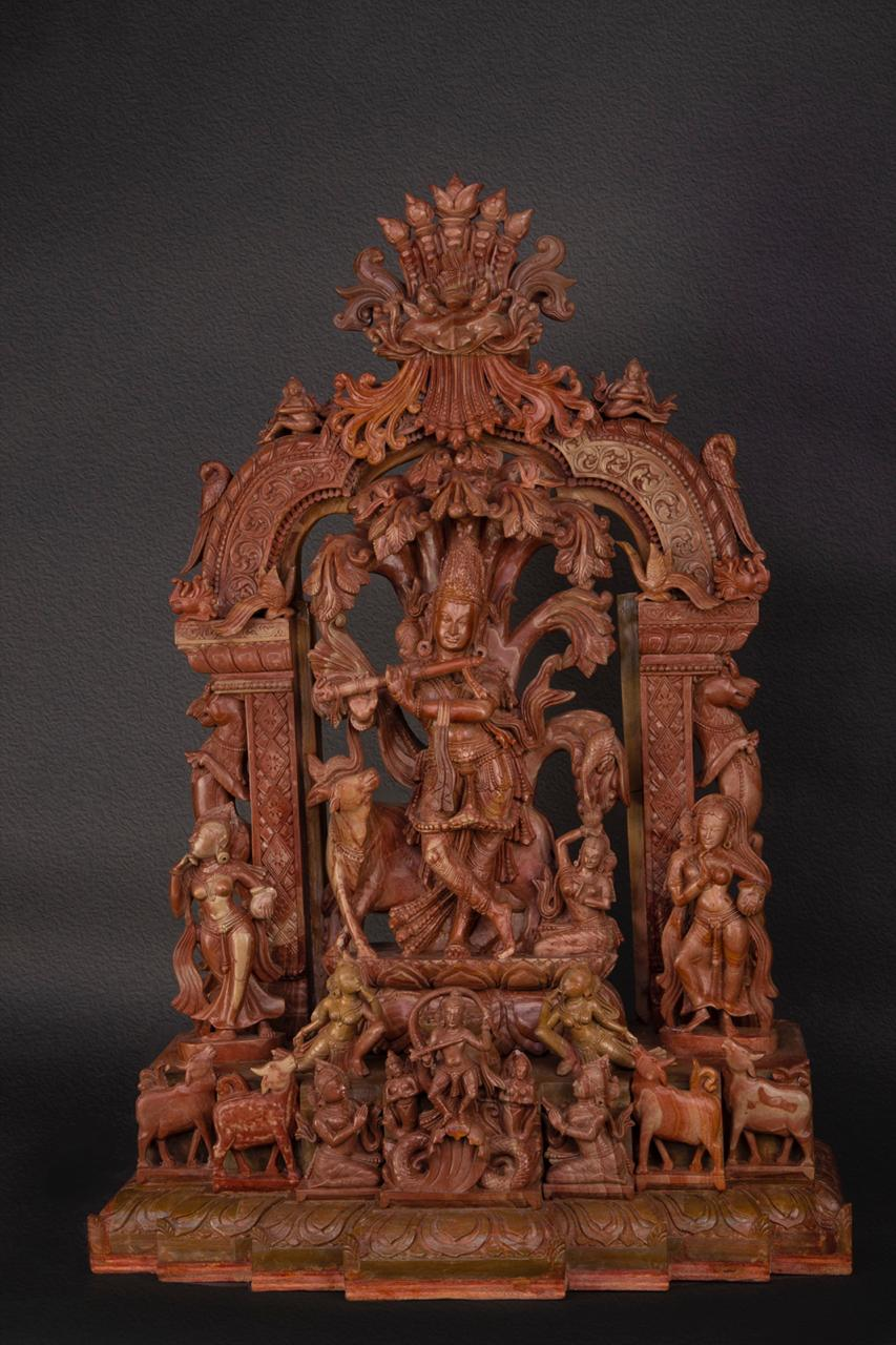 Ganesha Polished Serpentine Stone Sculpture
