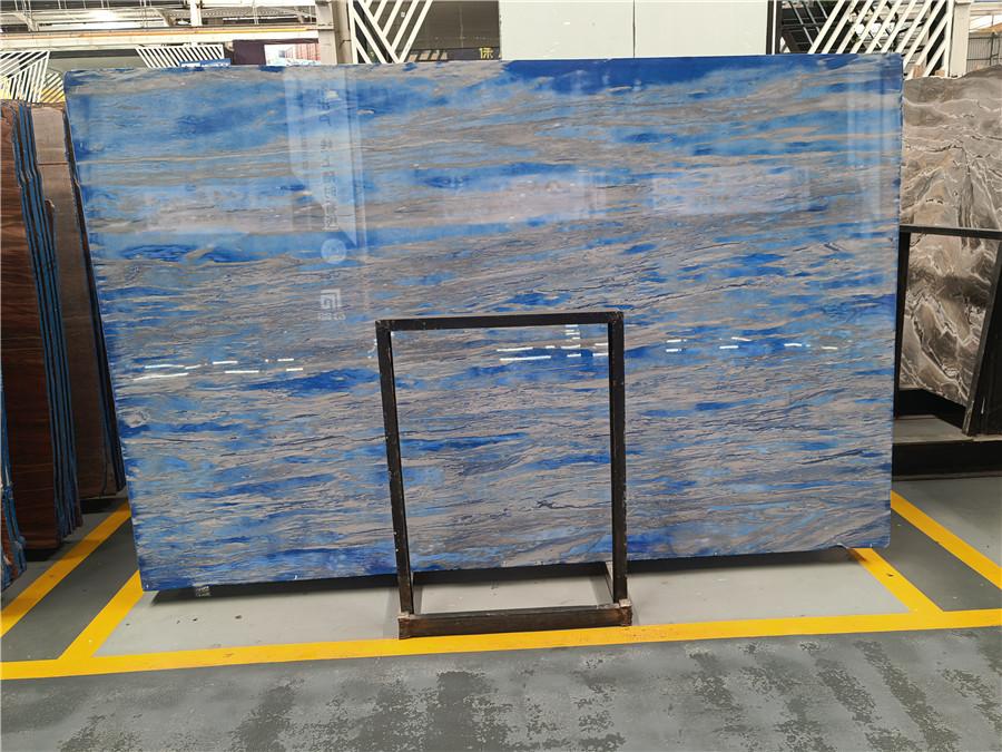 Glacier Blue Quartzite Slabs