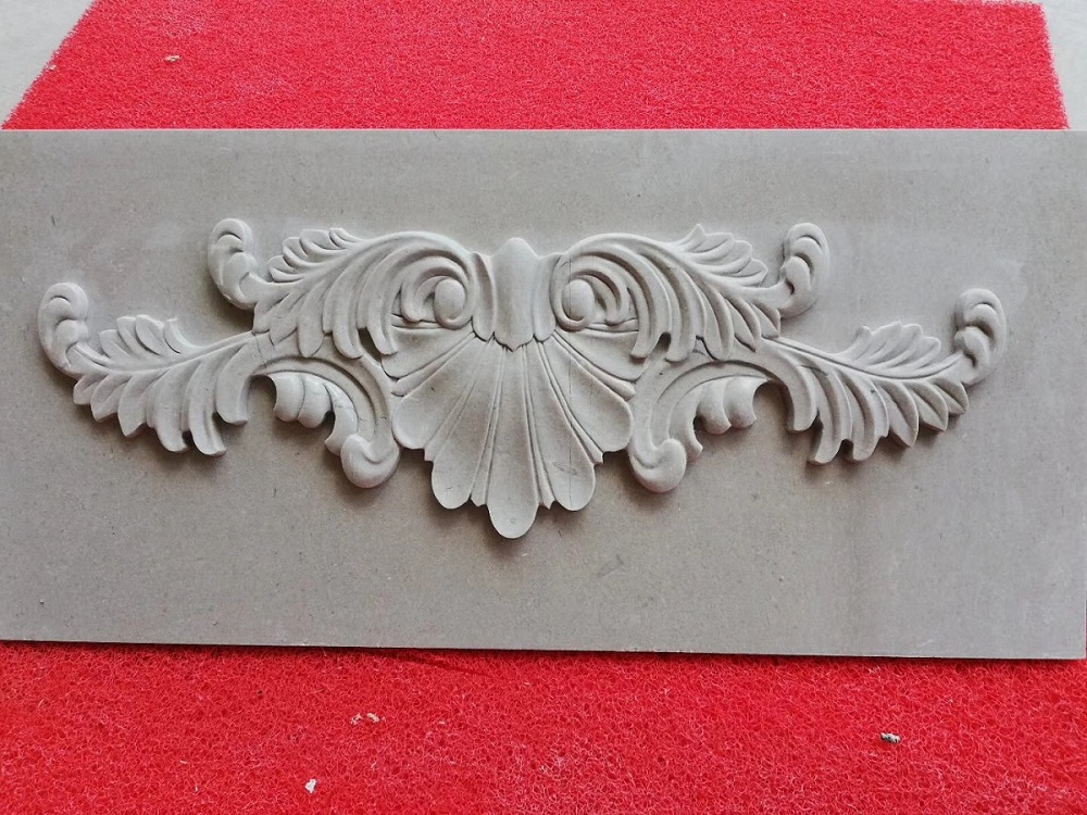 Cheap grey marble carved tile