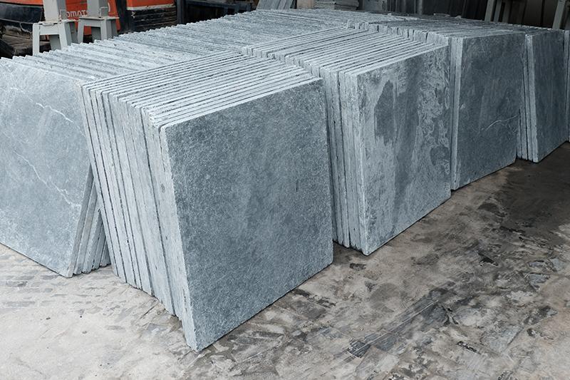 Blue limestone tile antique