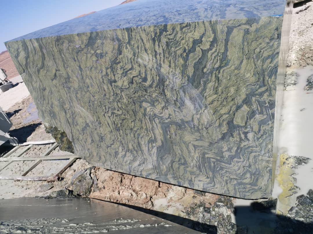 Picasso green granite