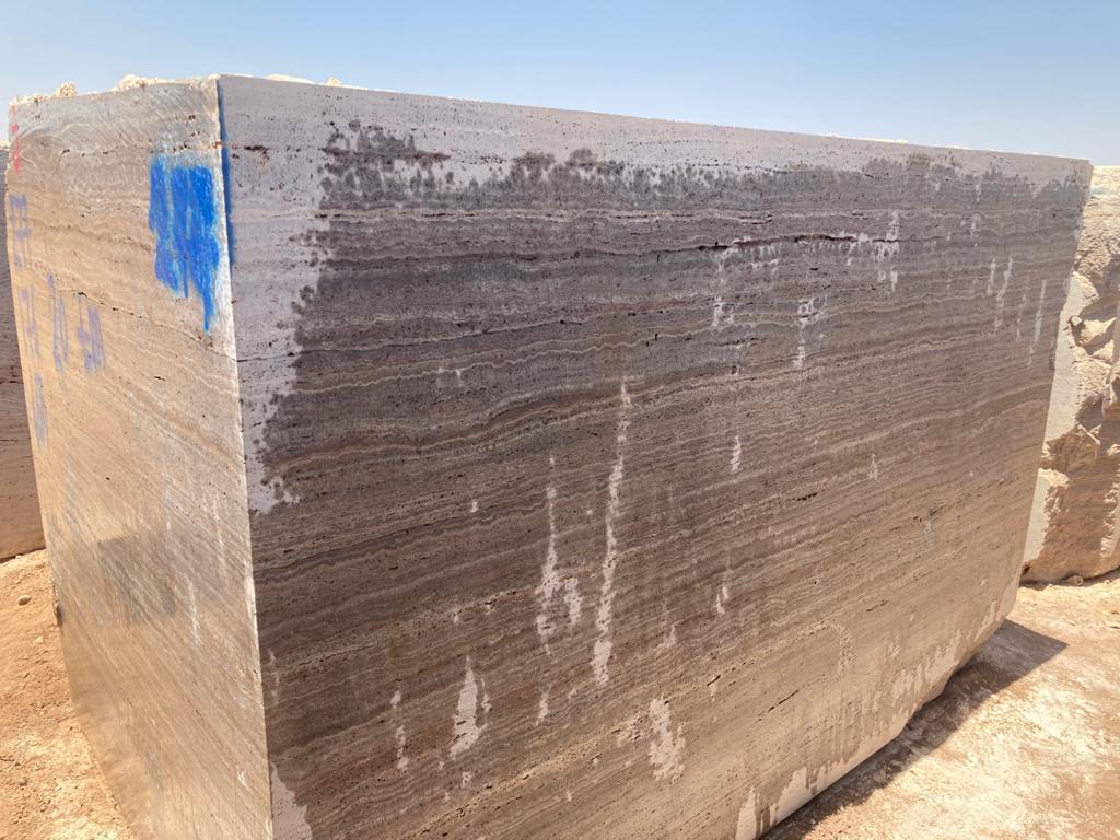 silver teravertine block
