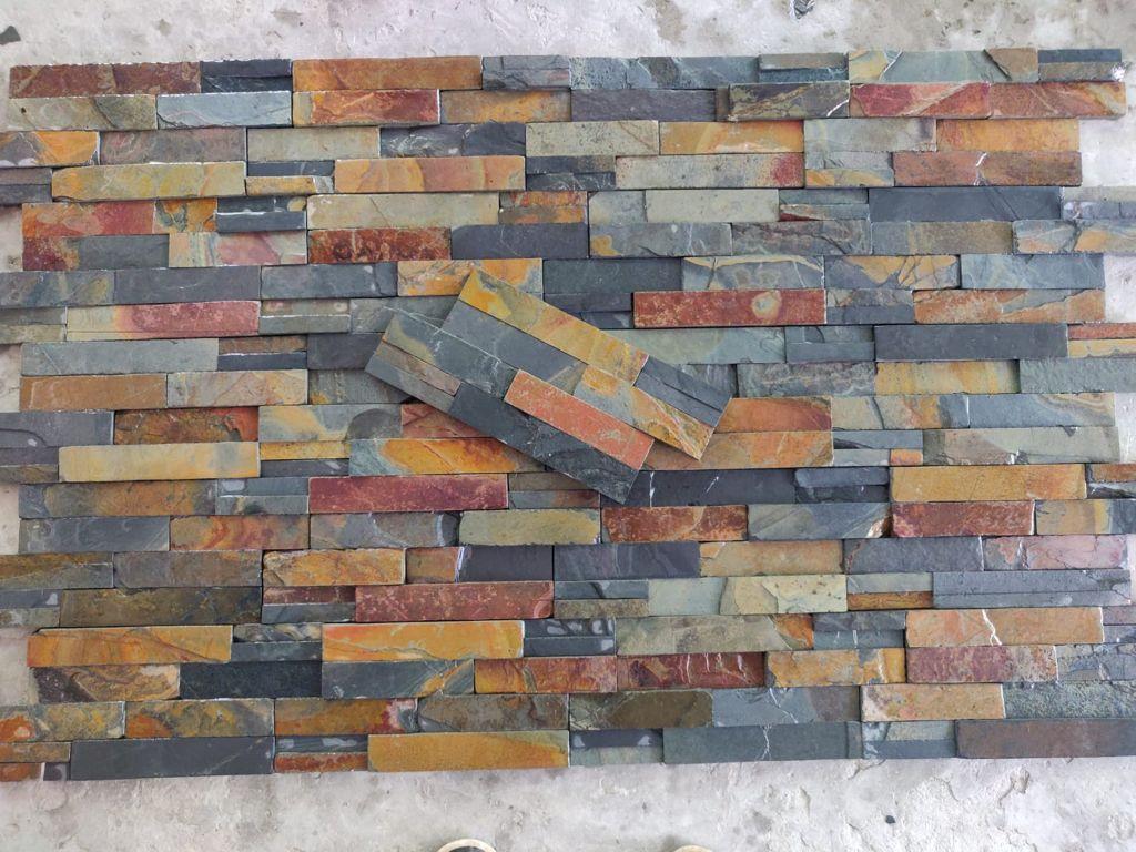 Natural wall panel cladding