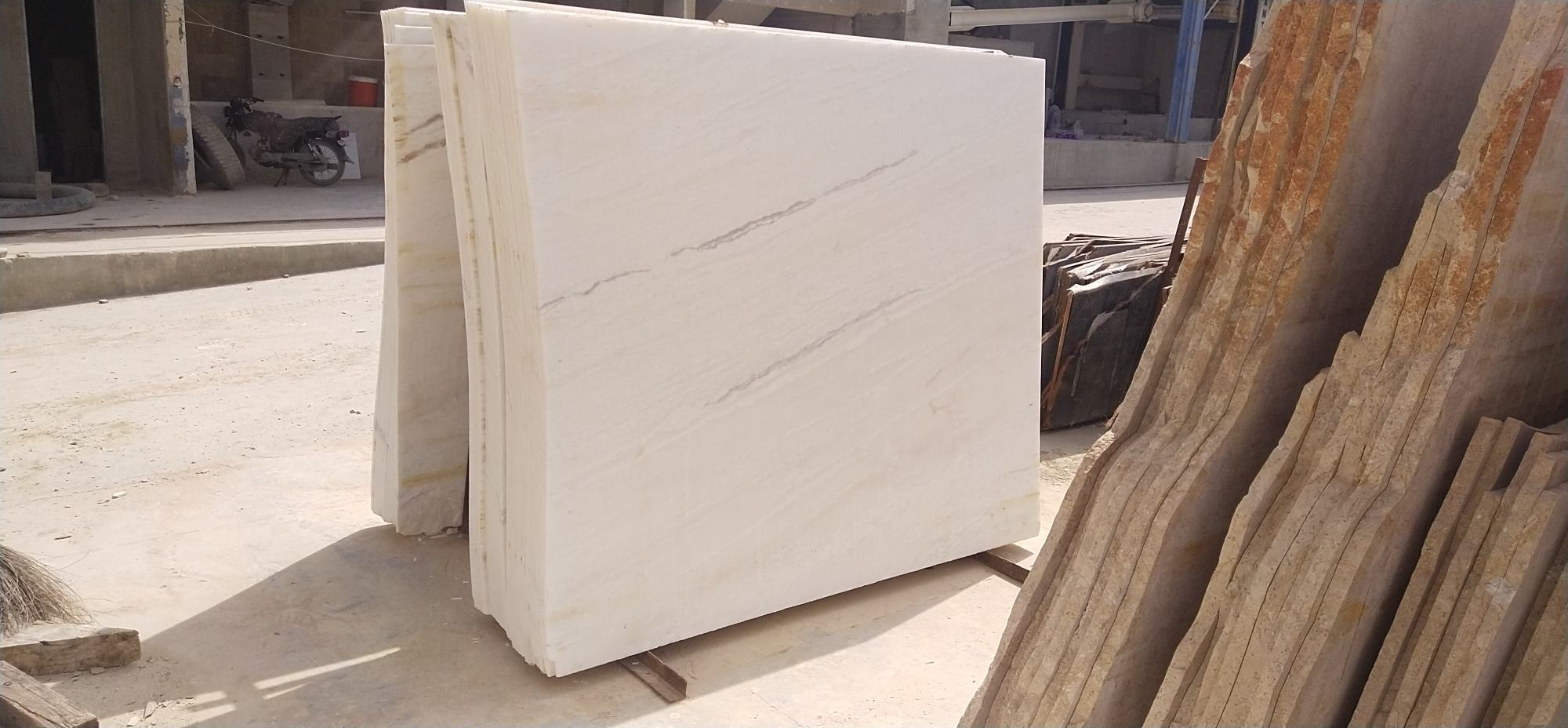 Pearl white marble