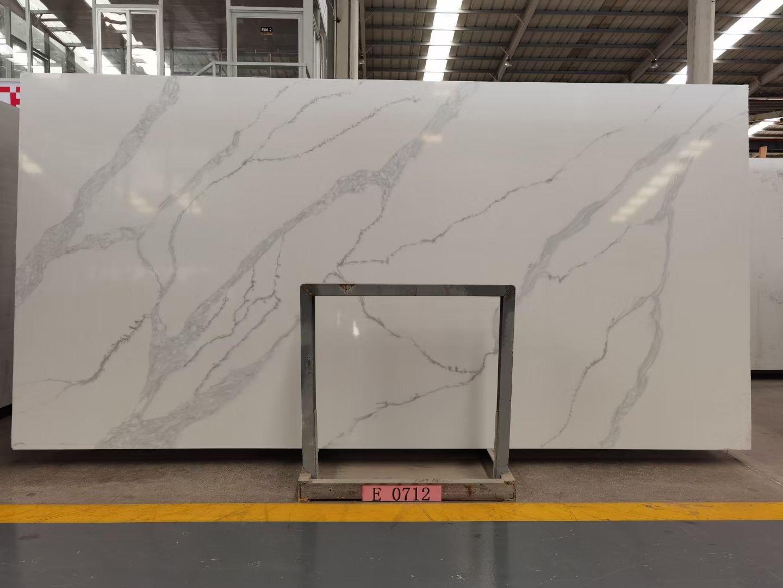 Calacatta White Quartz Slab K0712