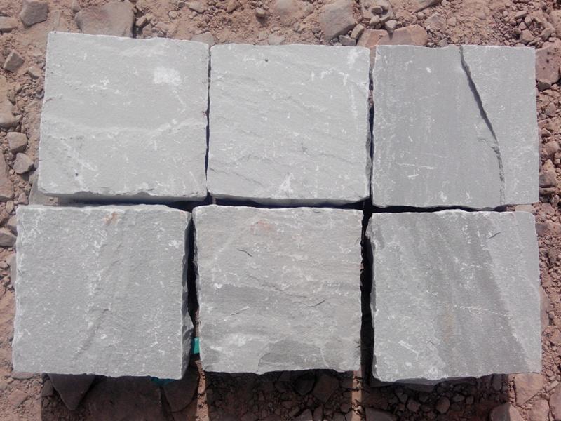 Kandla Grey Sandstone Cobble Stone  Grey Sandstone Setts