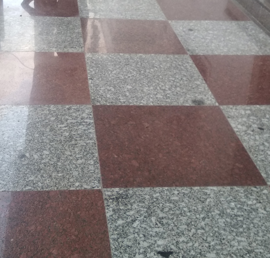 Red and White Granite Tiles Flooring