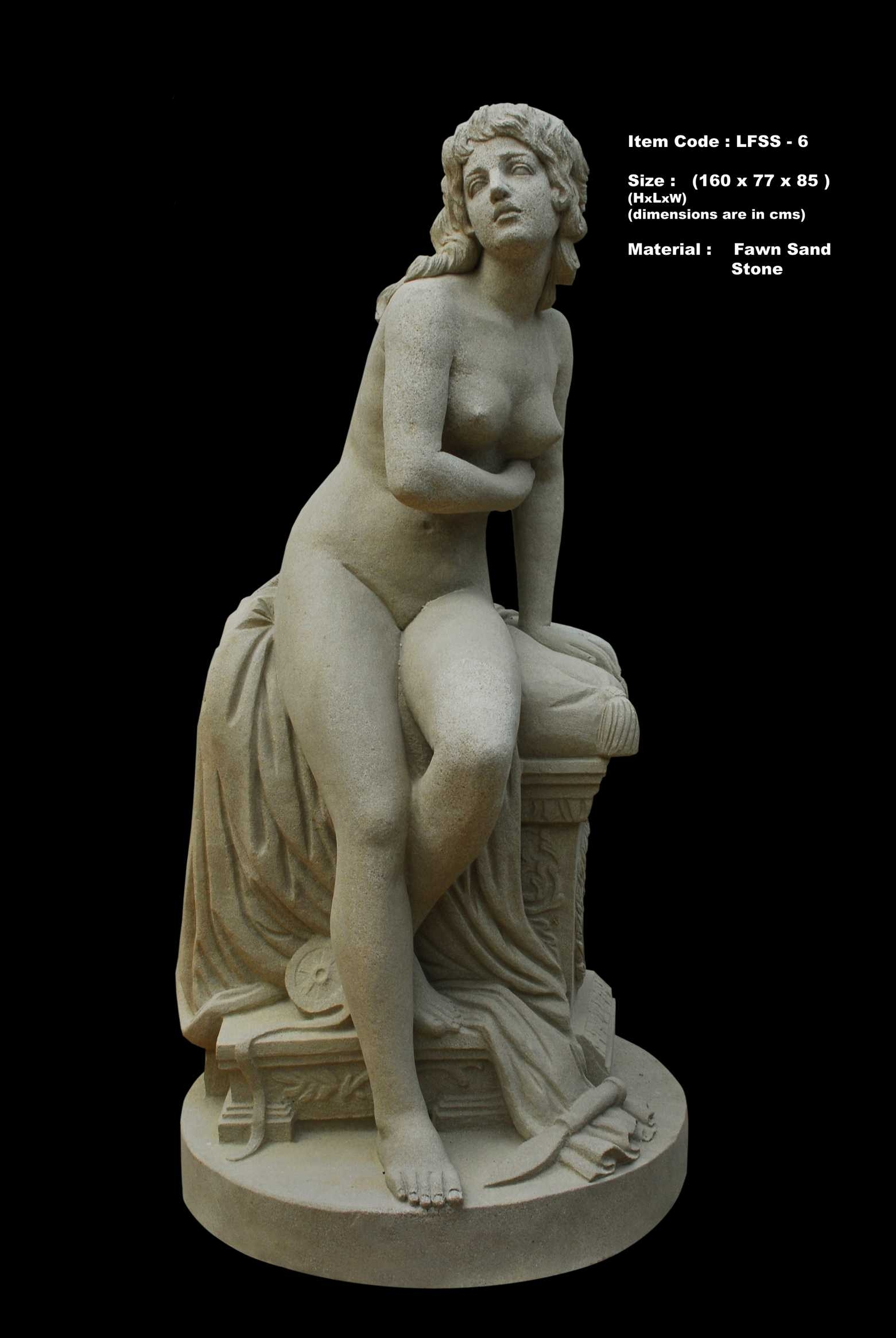 Lifesize Sandstone Human Statue