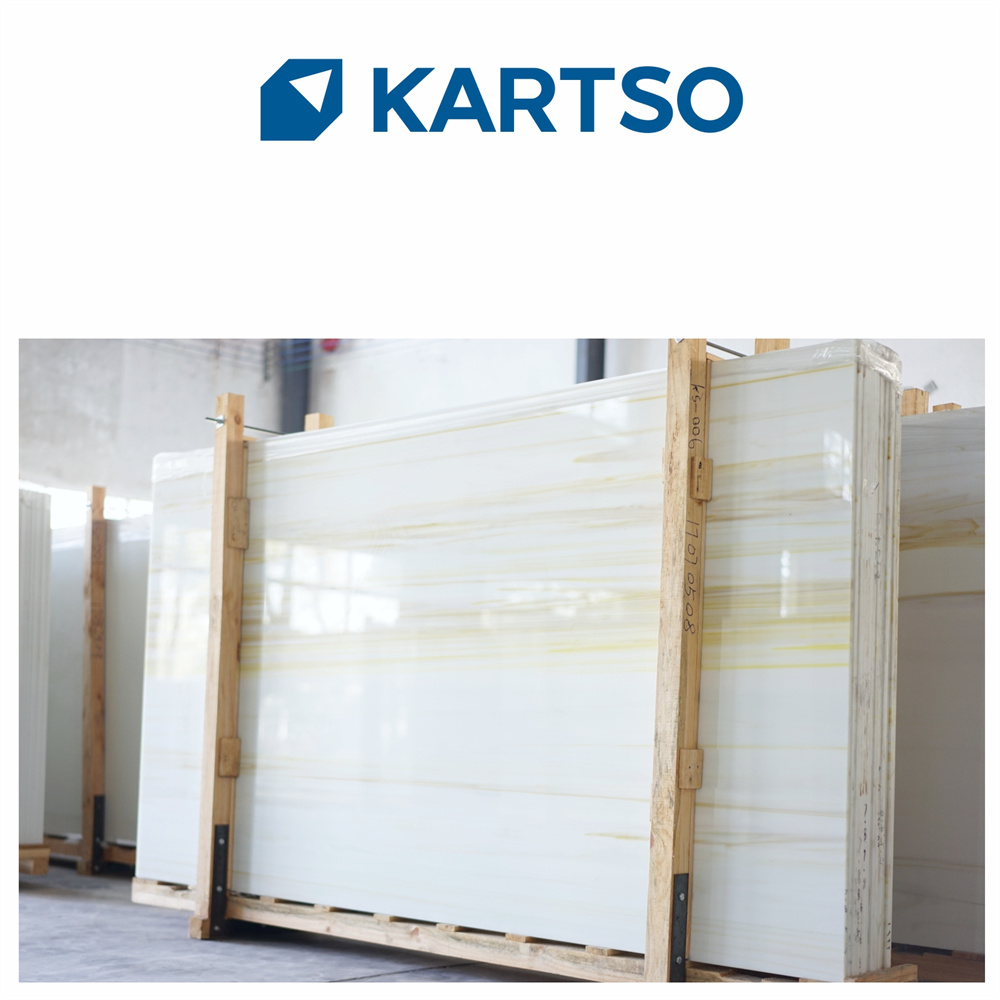 Direct Manufacturer Beige Timber Veins Crystallized Artificial Stone Nano Glass Slab Tiles