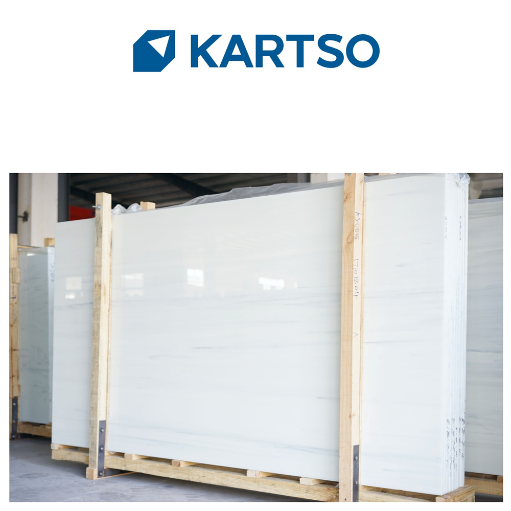 Direct Manufacturer Carrara White Slab Glass Nano Stone