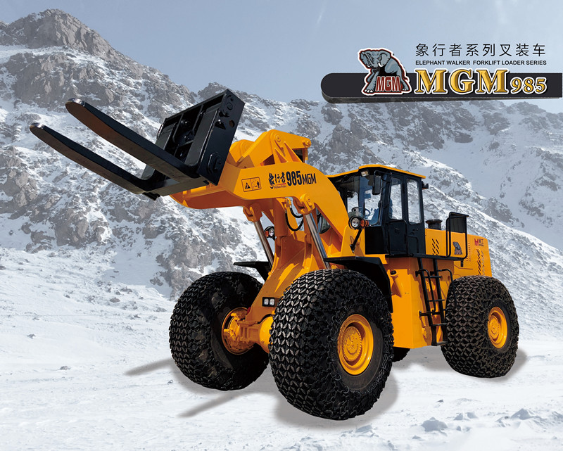 stone block handling equipment wheel loader