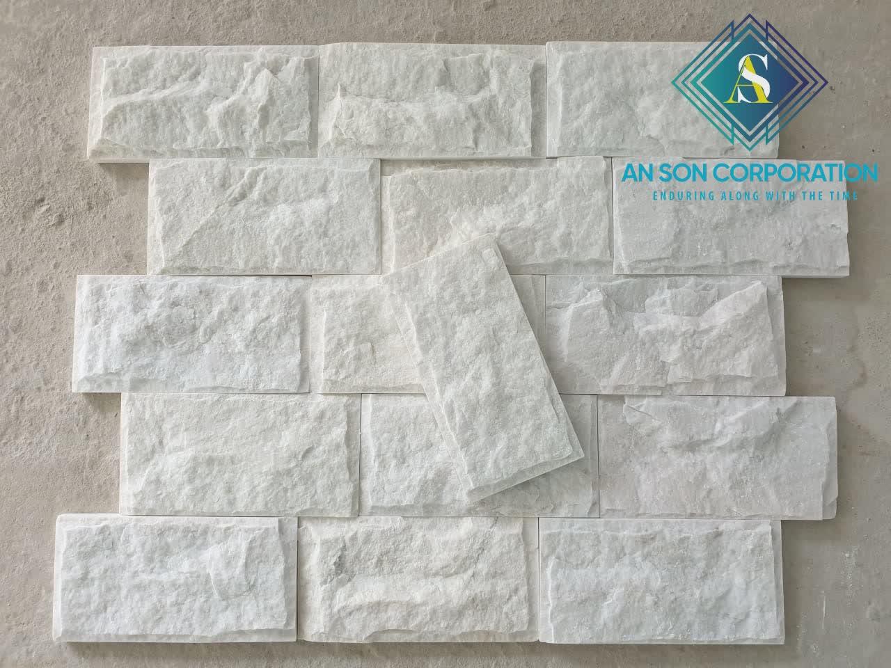 Milky White Mushroom Marble 10x20x1 5cm