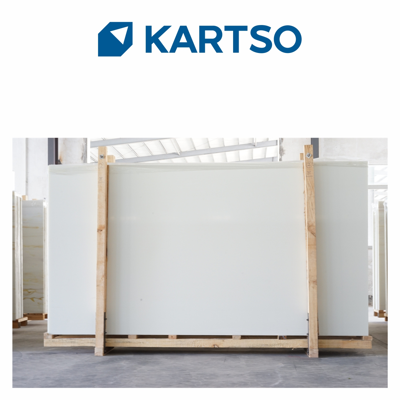 Kartso Super White Nano Crystallized Glass Stone Slab For table top or hotel wall panel
