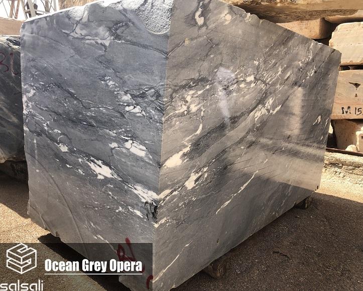 Ocean Gray Opera Marble