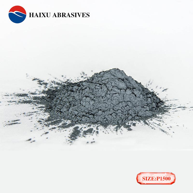 Black carborundum powder for glass polishing