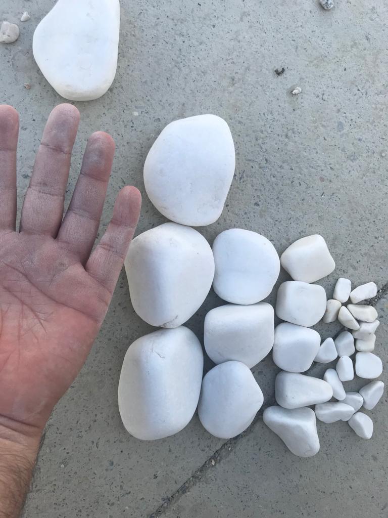 Pure White Tumbled Stone v