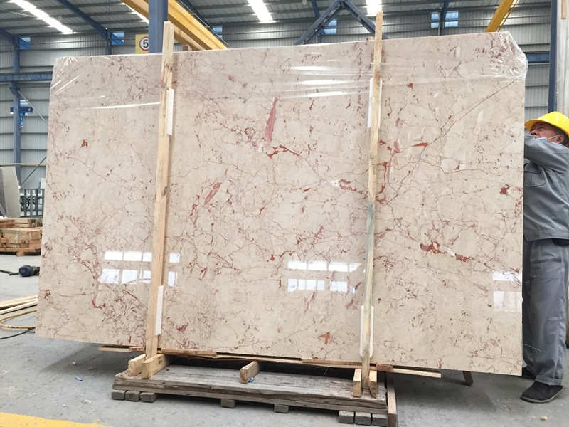 Natural polished turkish rosalia ruby red marble slabs and tiles flooring decoration