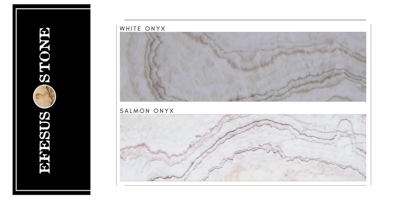 White Onyx-Salmon Onyx