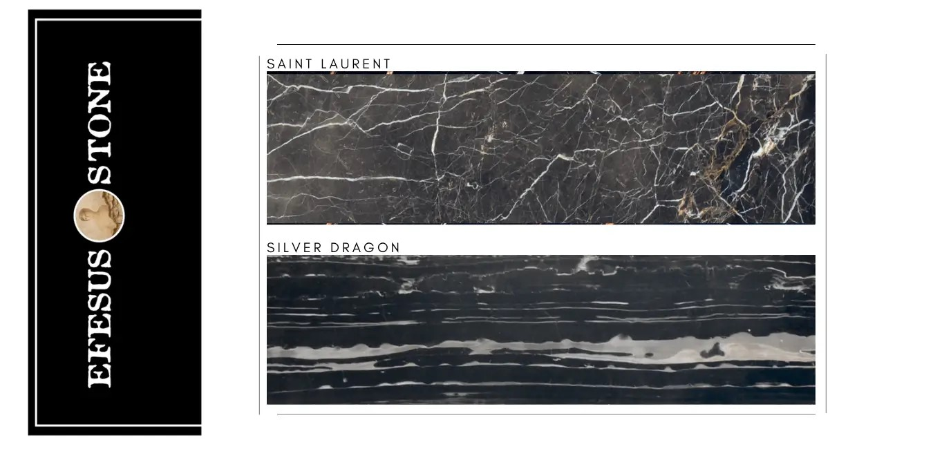 Silver White Dragon Marble-Laurent Brown Marble