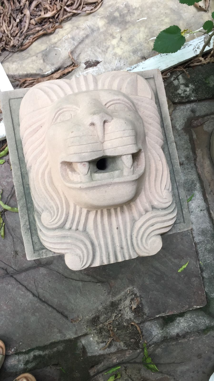 Handcrafted Sandstone Water Spout