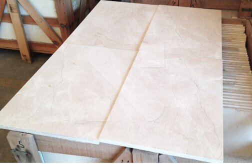 Turkish beige marble tiles 91 4 x 45 7 x 1 2cm