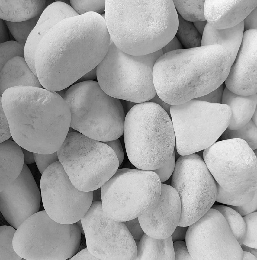 Snow White Pebble Stone for Garden Decoration