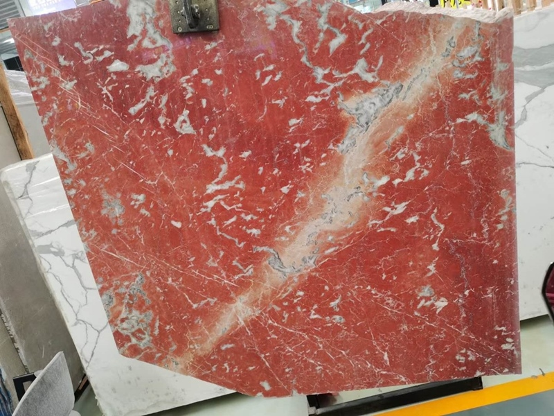 Exotic Red Rosa Alicante marble Slabs