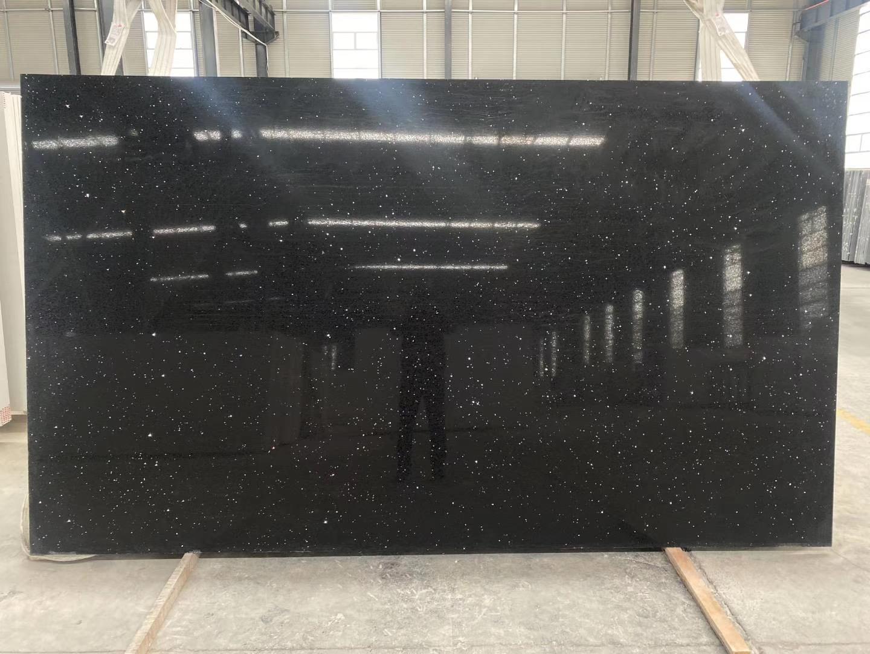 Black Quartz Slab Star Black Quartz Slab