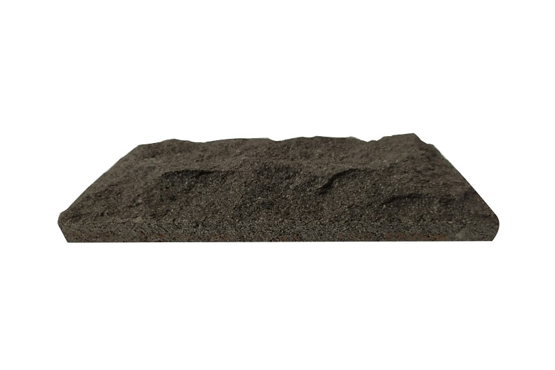 Black Lava Stone Mushroomed Exterior Wall Cladding