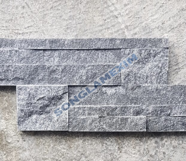 Grey Stacked Stone Wall Panel