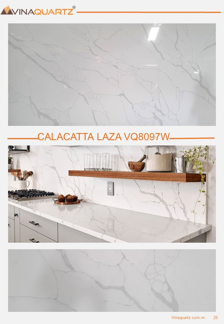 Quartz Surfaces from Vietnam Calacatta Laza