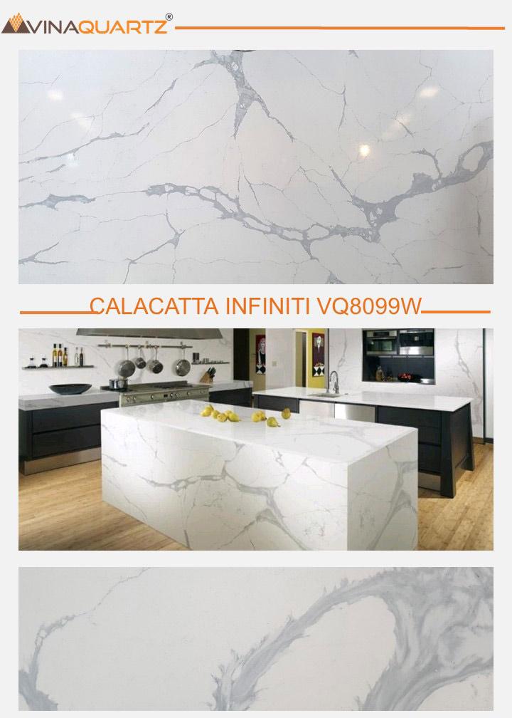 Vietnam Quartz slab for Kitchen Countertops