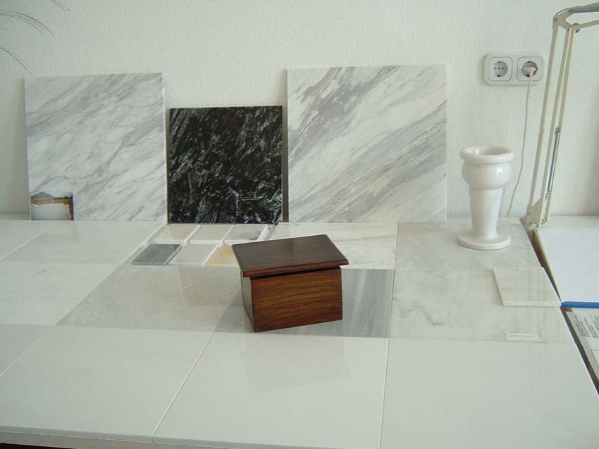 Volakas white marble tiles